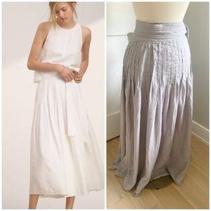 Aritzia Wilfred Essonne Wrap Maxi Skirt Ashen Grey